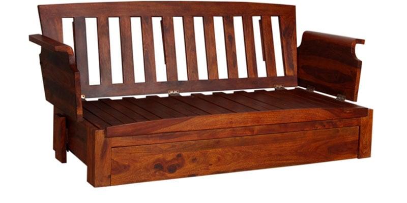 Buy Aryabhatta Solid Wood Storage Wooden Sofa Cum Bed by ...