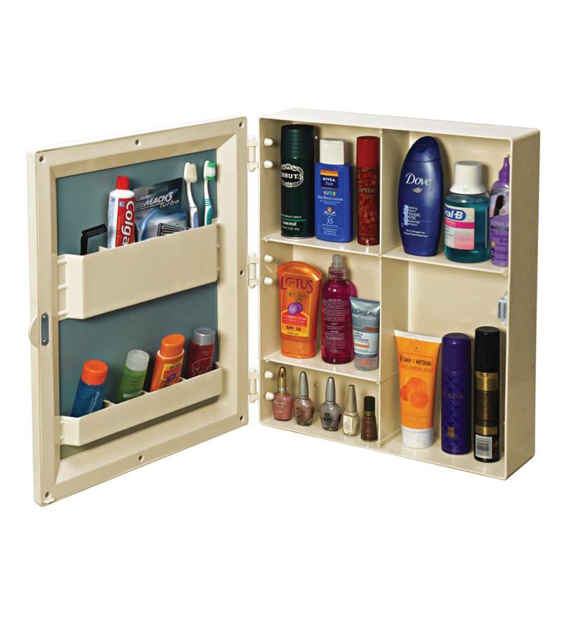 Buy Cipla Plast Ivory Plastic Bathroom Cabinet Online