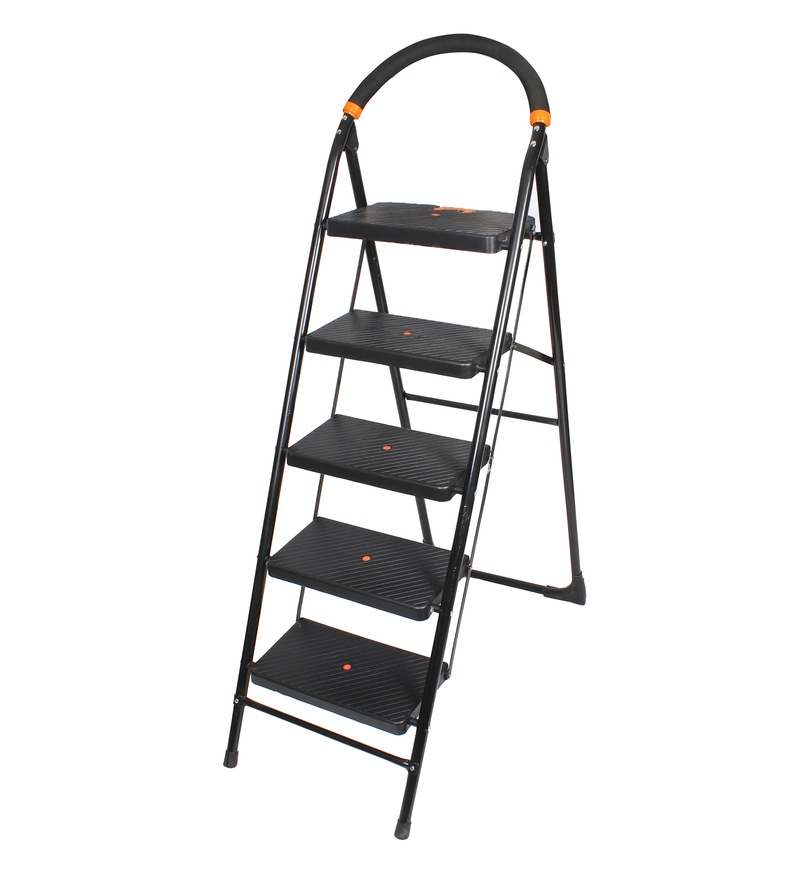 Cipla Plast Milano PPCP & Steel 5 Steps 5.8 FT Wide Steps Folding Ladder
