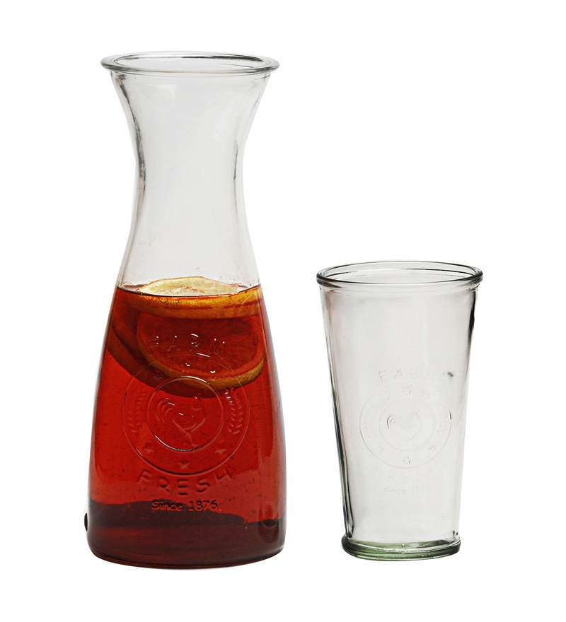 Circleware Ranch Glass Carafe & Glass - Set of 5