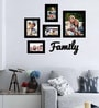 Family Black Wood & Glass 5-photo Frame by Art Street