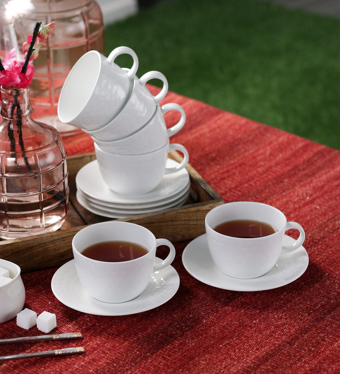 Buy Clay Craft Golf Plain Bone China 200 Ml Cup Saucer Set Of 6 Online Bone China Cups Saucers Bone China Cups Saucers Test Pepperfry Product
