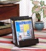 ClasiCraft Wooden Brown Magazine Stand