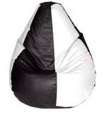 Classic XL Bean Bag with Beans in Black & White Colour