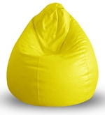 Classic XL Bean Bag with Beans in Yellow Colour