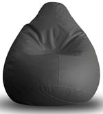 Classic XXL Bean Bag with Beans in Grey Colour