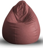 Classic XXL Bean Bag with Beans in Maroon Colour