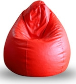 Classic XXL Bean Bag with Beans in Red Colour