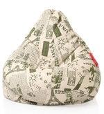 Abstract Design XXL Bean Bag Cover in Multicolour