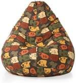 Abstract Design XXL Bean Bag with Beans in Multicolour