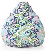 Floral Design XXL Bean Bag with Beans in Multicolour