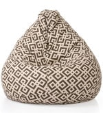 Geometric Design XXL Bean Bag Cover in Multicolour