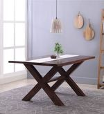Clovis Six Seater Dining Table in Provincial Teak Finish
