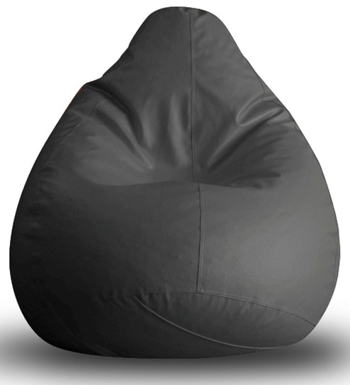 Buy Classic Xxl Bean Bag With Beans In Grey Colour By
