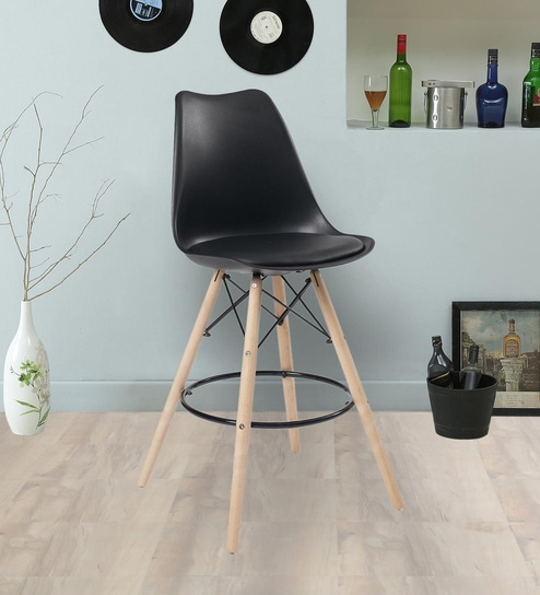 Enjoyable Classic Full Back Bar Stool With Backrest In Black Colour By Finch Fox Uwap Interior Chair Design Uwaporg
