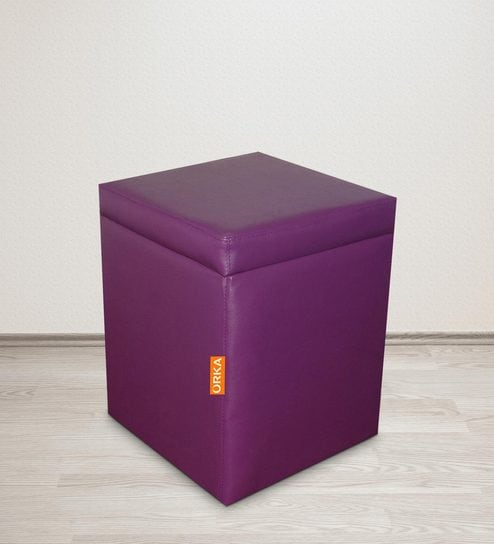 Marvelous Classic Square Ottoman In Purple Colour By Orka Dailytribune Chair Design For Home Dailytribuneorg