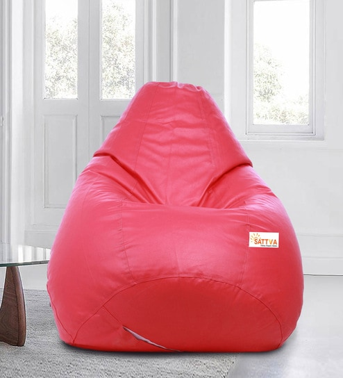 Superb Classic Style Xxxl Bean Bag With Beans In Pink Colour By Sattva Uwap Interior Chair Design Uwaporg