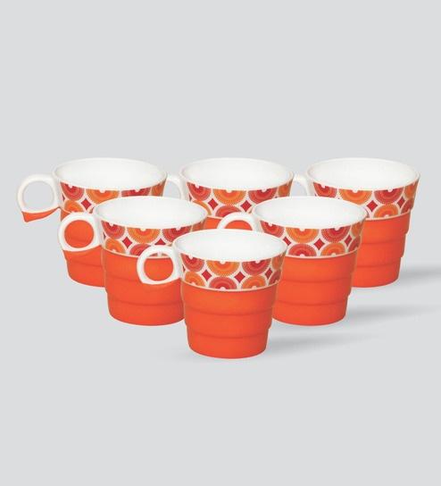 Clay Craft Bone China Mugs Set Of 6 By Clay Craft Online