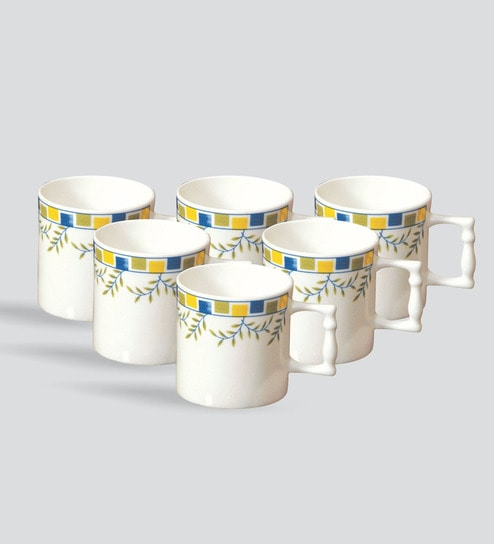 Clay Craft Bone China Mugs Set Of 6 By Clay Craft Online Nature
