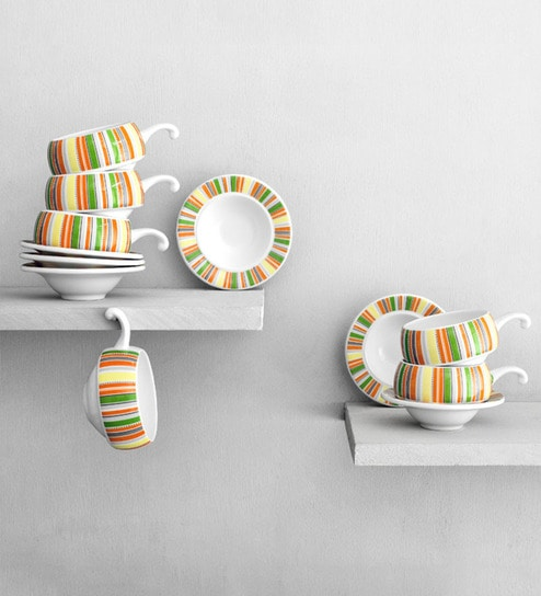 Clay Craft Cup Saucer Set Of Twelve By Clay Craft Online Cups