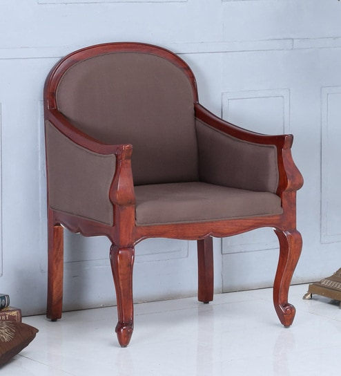 Buy Furniture Chairs Wooden Armchairs Clifford Solid Wood Armchair in Honey Oak Finish by Amberville