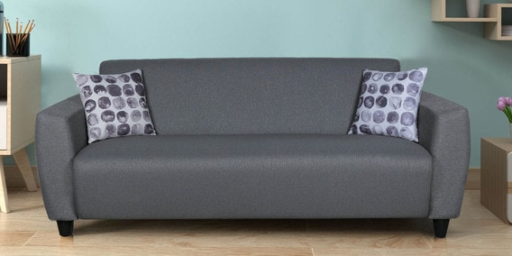 Clara Three Seater Sofa In Grey Color By Live Home