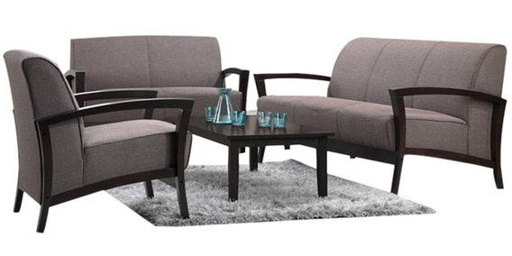 Clic Sofa Set With Wooden Armrest Three Seater One By Planet