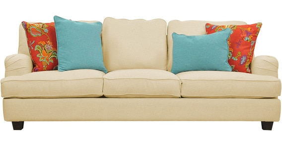 Classic Sofa With A Curvy Silhouette In White Colour By Afydecor