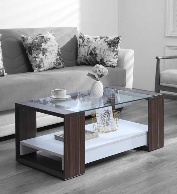 Clifton Coffee Table In Dual By Crystal Furnitech Modern Rectangular Tables Furniture Pepperfry - What Color Should A Sofa Table Be