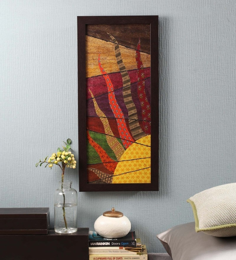 Multicolour Fabric & Canvas 12 x 1 x 26 Inch Framed Wall Art Painting by ClasiCraft