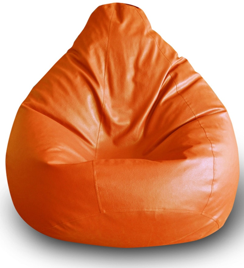 Classic XXL Bean Bag Cover in Orange Colour by Style HomeZ