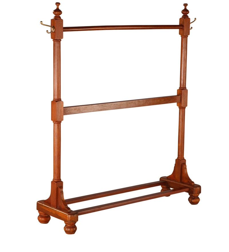 buy classic clothes rack teak wood by tube style online. Black Bedroom Furniture Sets. Home Design Ideas