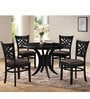 Clarita Four Seater Dining Set in Dark Brown Finish by CasaCraft