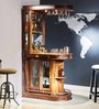 Clarke Bar Unit in Provincial Teak Finish by Amberville