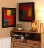 Multicolour Canvas 34 x 0.8 x 17 Inch Abstract Framed Wall Art Painting - Set of 2 by ClasiCraft