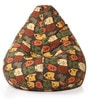 Abstract Design XXL Bean Bag Cover in Multicolour by Style HomeZ