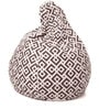 Classic Cotton Canvas Geometric Design Bean Bag XL Size with Beans by Style Homez