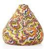 Classic Cotton Canvas Geometric Design Bean Bag XXL Size Cover by Style Homez