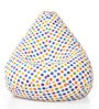 Classic Cotton Canvas Polka Dots Design Bean Bag XXL Size Cover by Style Homez