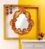 The Frame Address Copper Solid Wood Damask Alabaster Mirror Wall Art