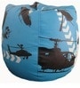 Helicopter Theme Bean Bag Cover in Black & Blue Colour by Orka