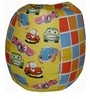 Toon Car Theme Kids Bean Bag with Beans in White Colour by Orka
