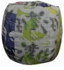 Digital Dots Theme Filled Bean Bag in Multicolour by Orka