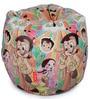 Chhota Bheem Kids Bean Bag with Beans in White Colour by Orka