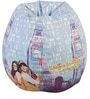 DDLJ Theme Bean Bag with Beans in White Colour by Orka