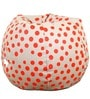 Polka Dot Theme Filled Bean Bag in in Red & White Colour by Orka
