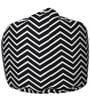 Zig Zag Muddha Bean Bag Sofa Cover by Sattva