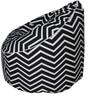 Classic Bean Bag with Beans in Blue Colour by Sattva