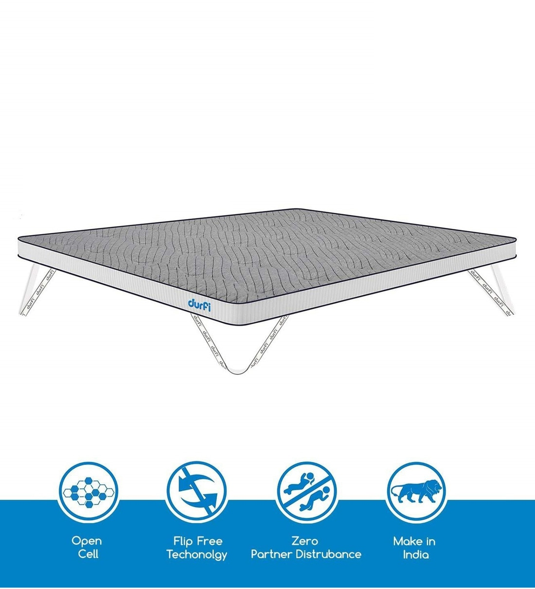 Picture of: Buy Cotton Candy Memory Foam King Size 72×72 2 Thick Firm Mattress Topper By Durfi Online King Size Mattress Toppers Mattress Toppers Mattresses Pepperfry Product