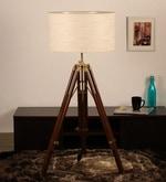 Off White Khadi Floor Tripod Lamp
